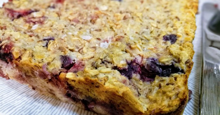 Berry Oat Protein Breakfast Bars