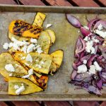 Grilled Zucchini and Onions with Feta
