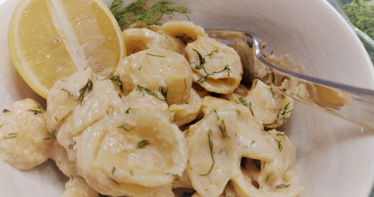 Lemon Dill Alfredo Shells