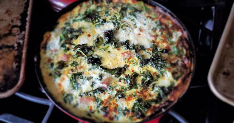 Kale and Ricotta Frittata with Sausage